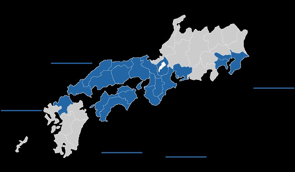 出張対応地区地図